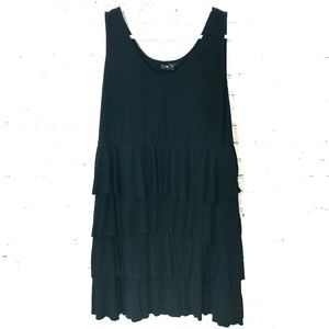 Style and Co Women's Midi Tank Ruffle Dress 2X